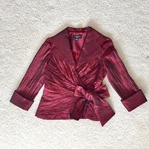 R&M Richards Petite Evening Jacket Red Size 6P